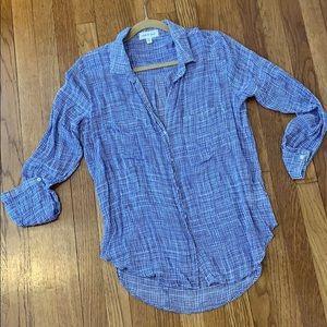 Cloth & Stone lightweight plaid button down